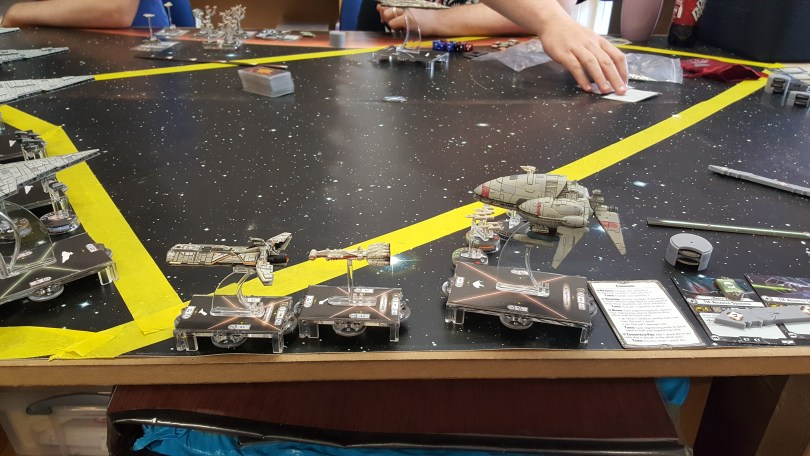 Rebel Fleet Dropping out of hyperspace