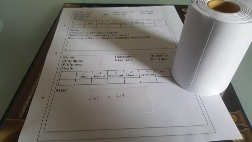 custom insert and food label