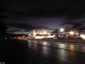 Kutaisi Airport at night