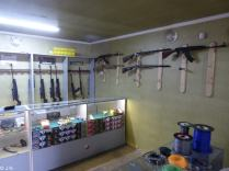Gun shop in Ozurgeti (the AK is 400$)