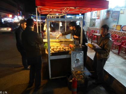 Street food on Iskan
