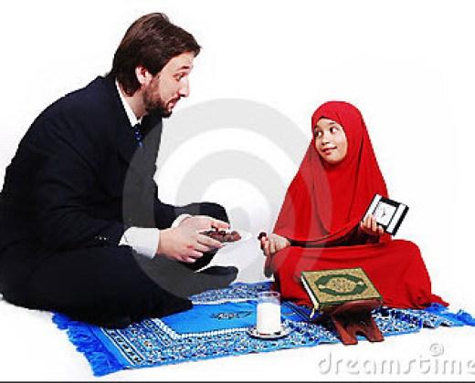 daughter-and-father-beautiful-ramadan-kareem-wallpaper