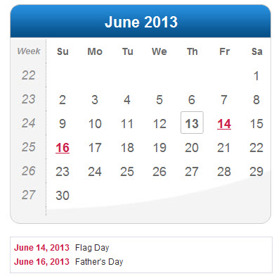 2013-June-calendar-wallpaper for Iphone5