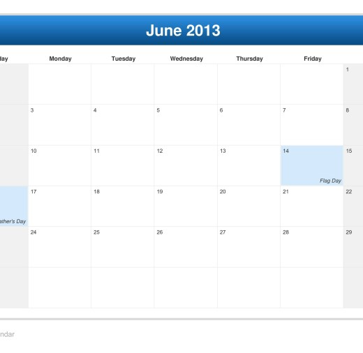 calendar-june-2013-vacation-days