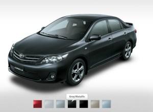 2013 Corolla-2013-XLI-GLI black Colors