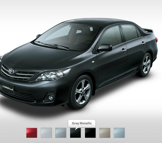 2013 Corolla-2013-XLI-GLI black Colors
