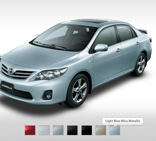 Toyota-corolla2013 XLI Mid range Color-in markets