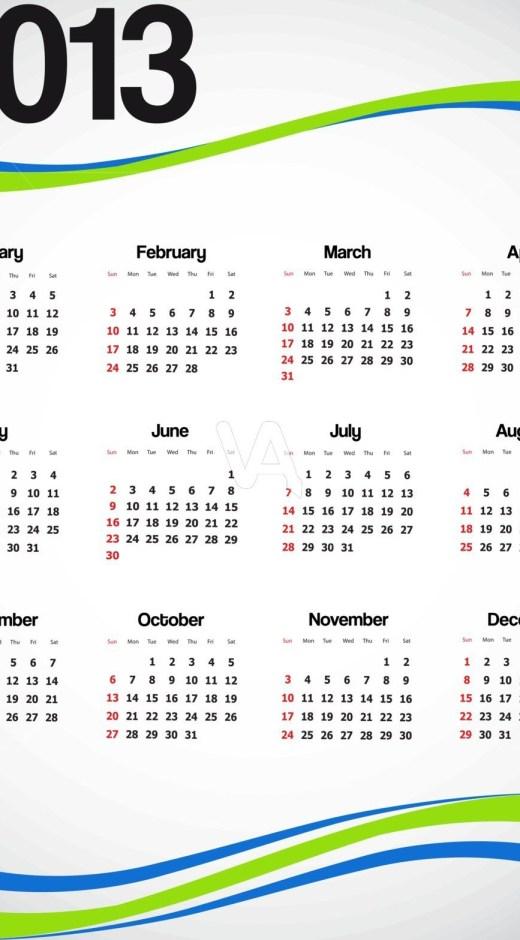 Calendar 2013-wallpaper for mobile