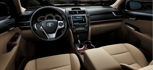 Toyota Camry 2013 interior-brown-color-leather