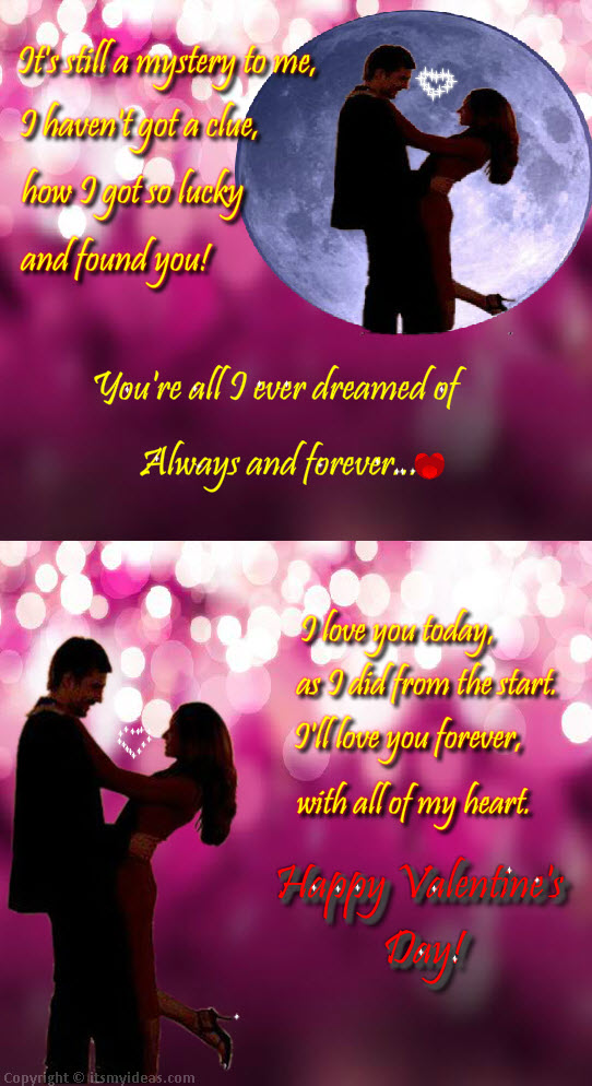 Valentine-Day 2013 romantic-couple picture with love quotes ...