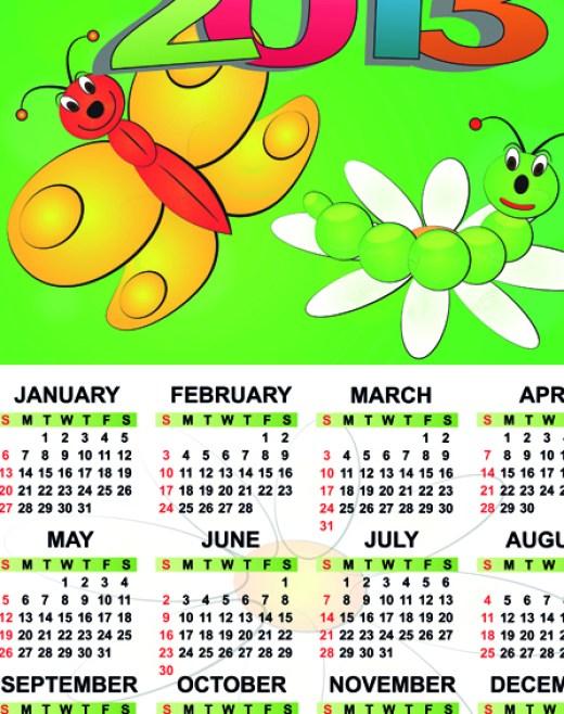 sweet Calendar-2013 for kids