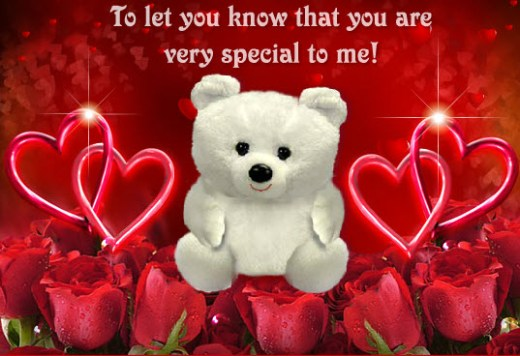 teddy-bear romantic picture with Quotes
