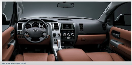toyota-sequoia2013-car-model-interior-Red-rock-instrument-Panel-Picture-images