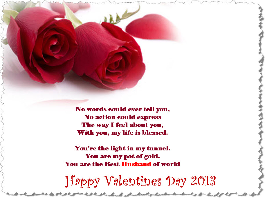 Valentine day 2013 peom message for husband picture itsmyideas valentine day 2013 peom message for husband picture m4hsunfo