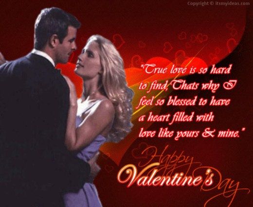 valentineday 2013 romantic greeting card with Quotes