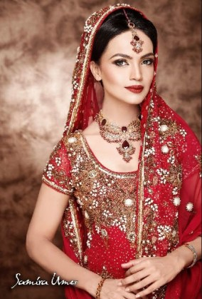 Beautiful-Indian-Girl-Face-picture in bridal-dress