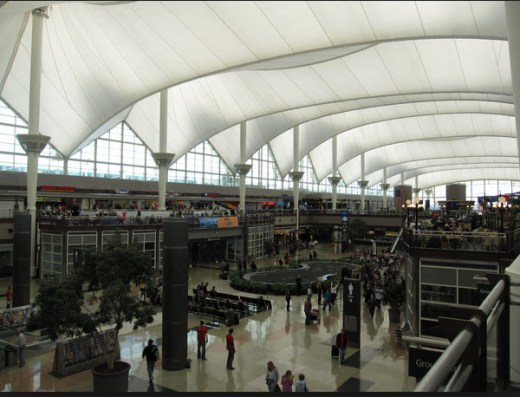 Denver International Airport view