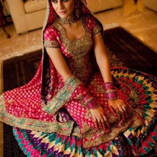 Multicolor-bridal-dress-with-price-in-UK