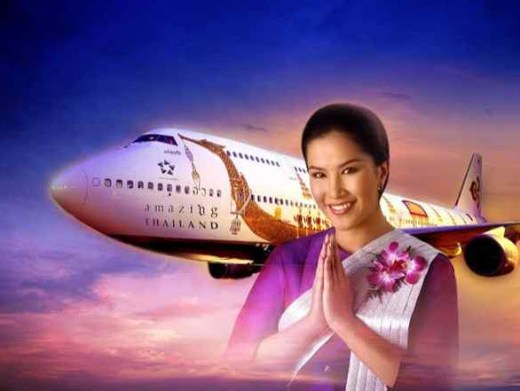 Thai-Airways International airhostess female