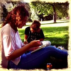 Chillen in Hyde Park.