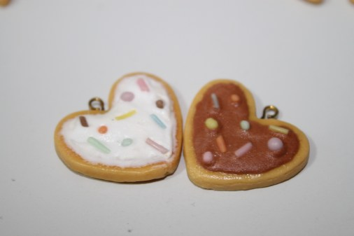 heart biscuits with icing and sprinkles