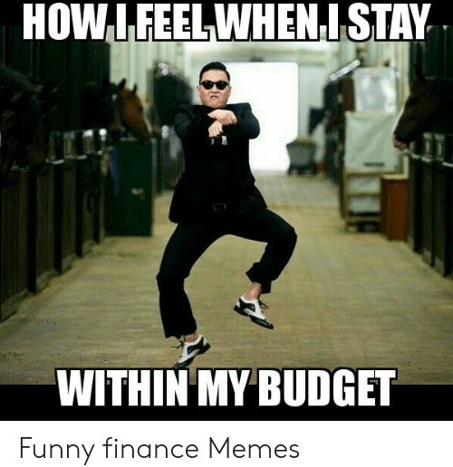 How I feel when I stay within my budget