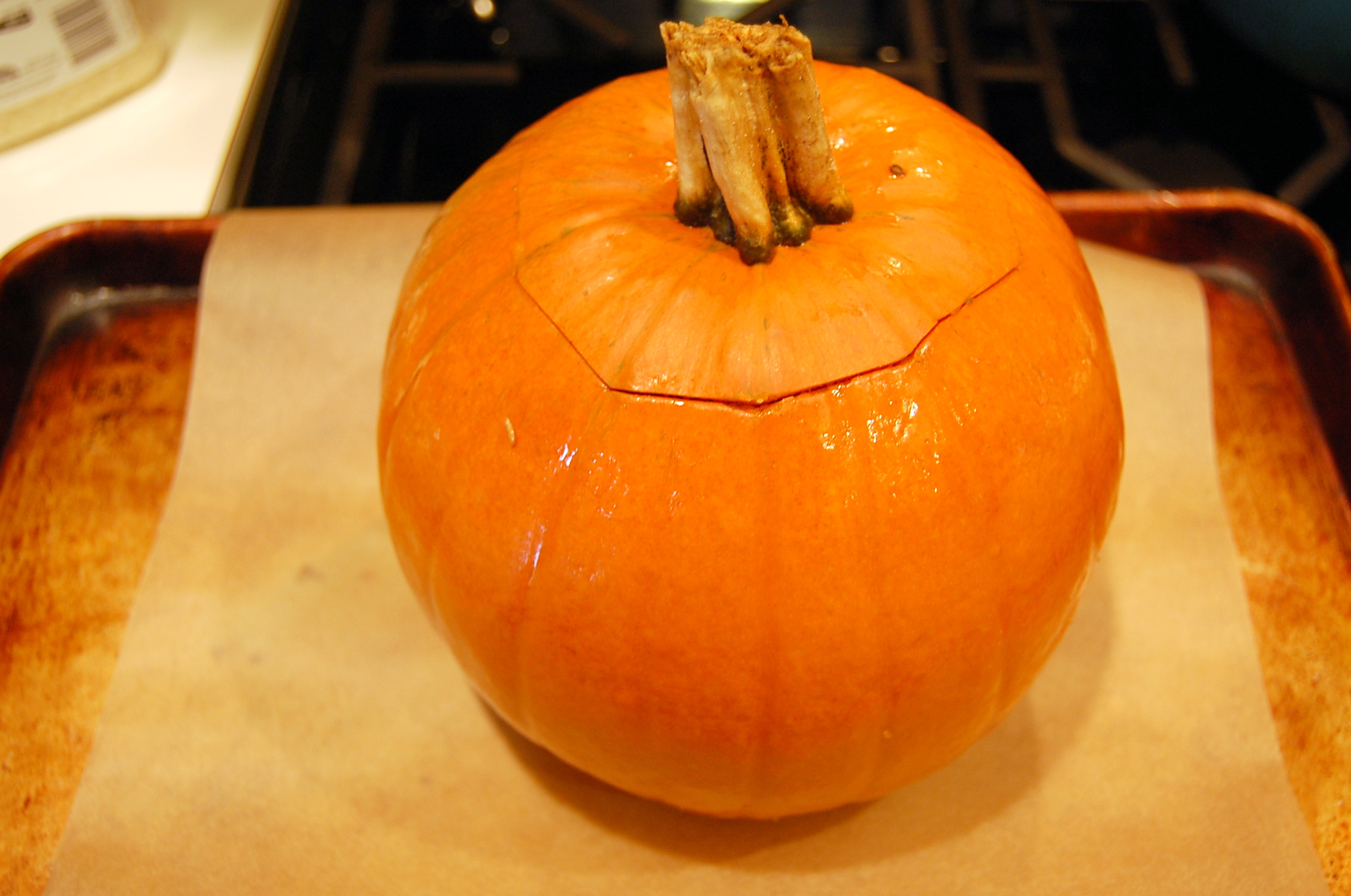 This is a Tale of Two Pumpkins (Whole Roasted Pumpkin