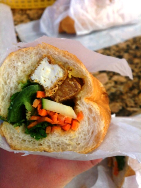 Tofu bahn mi at Don Café and Sandwich---the craving that serves as inspiration for all that I do
