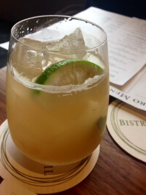 Coconut Republic: coconut sake, ginger beer and mint over ice
