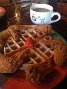 Chicken & Waffles @  Breakfast Klub