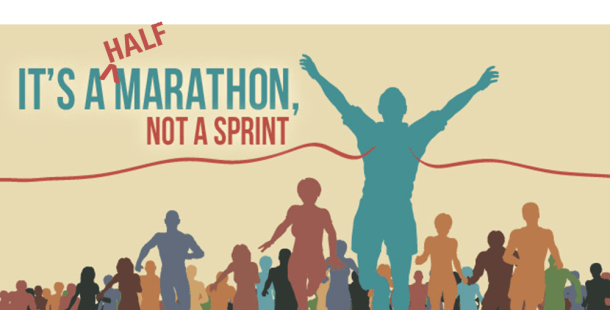 halfmarathon not a sprint