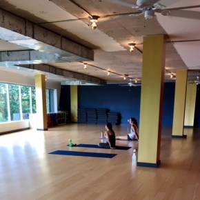 Sweating it out at BIG Power Yoga