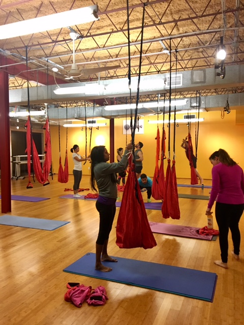 aerial yoga houston heights