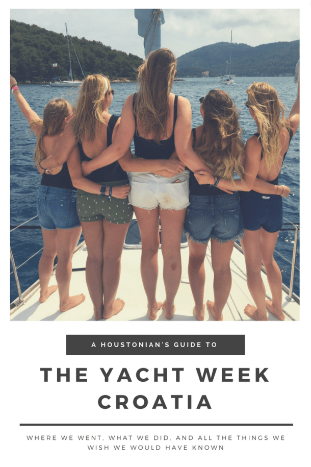 The Yacht Week // Everything you need to know. // It's Not Hou It's Me