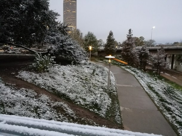 pictures of houston snow buffalo bayou 2017