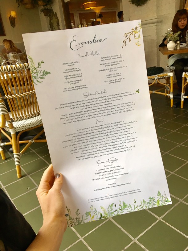 emmaline houston brunch menu