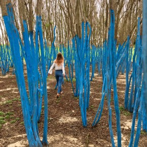 The Blue (and Green!) Trees ARE BACK at Waugh and Memorial