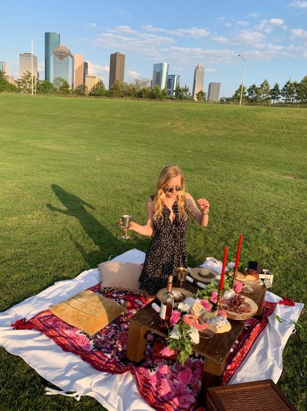 Houston luxury picnic company buffalo bayou
