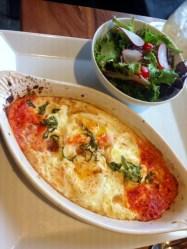 Shirred Eggs in Tomato Sauce with Fresh Mozzarella
