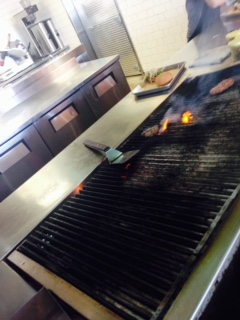 Watch them grill as you go down the line