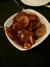 Duck fat potatoes with bacon!
