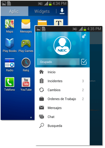 Aplicación Movil Android Técnicos de Campo -ITSoftware desarrollo de software