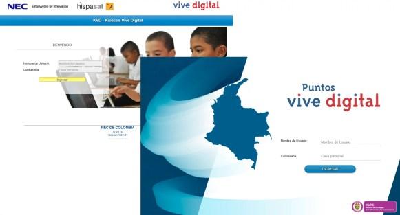 Kioscos y Puntos Vive Digital - desarrollo de software a la medida
