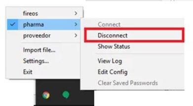 Desconectar la VPN