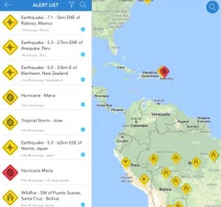 Aplicaciones Móviles para Desastres Naturales