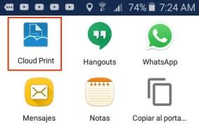 Imprimir desde celular por cloud