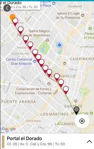 Mapa de la ruta buscada