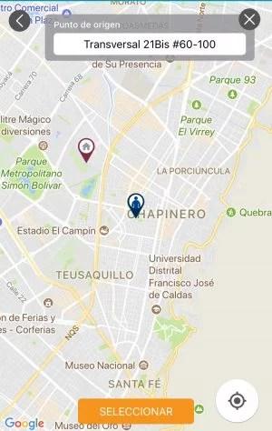Ubicando origen y destino en Google Maps