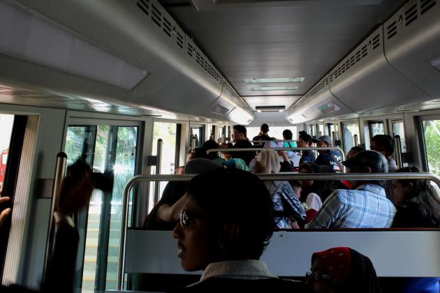 Поезд. Подъём на Пенанг Хилл