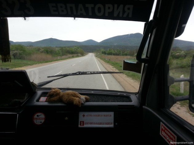 First trip with a baby. The road from Yalta to the sea